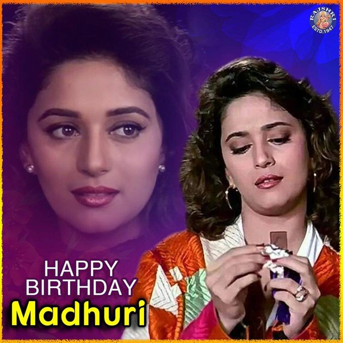 Wishing everyone s favourite Madhuri Dixit - Nene a very Happy Birthday!