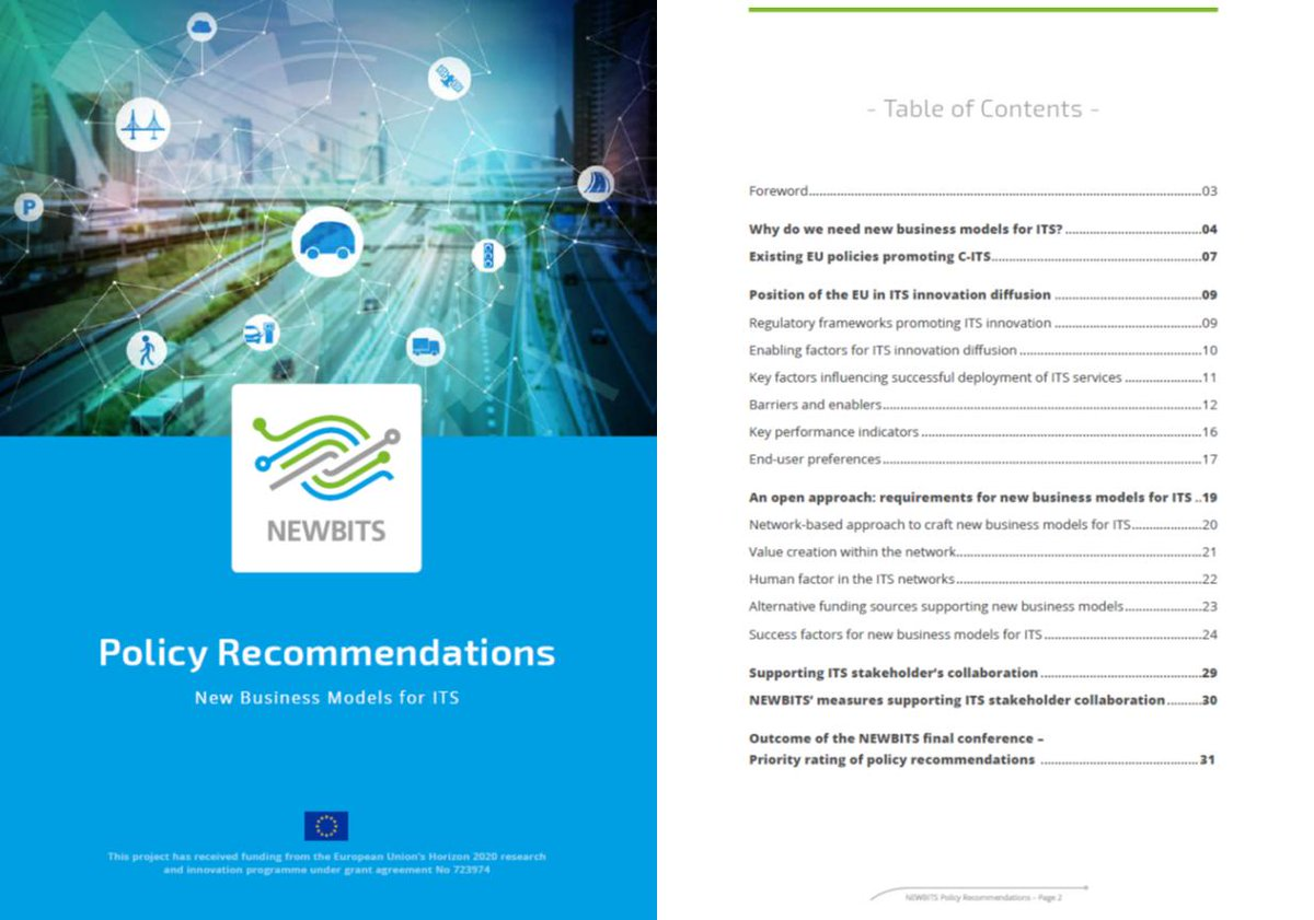 test Twitter Media - The NEWBITS #policy recommendations eBook shares insights derived from four #ITS case studies with regard to pathways and good practices for ITS #innovation diffusion and agile #business modelling with policy makers active on the EU and national level. | https://t.co/rcIG93VUsg https://t.co/44kQN2TOZw