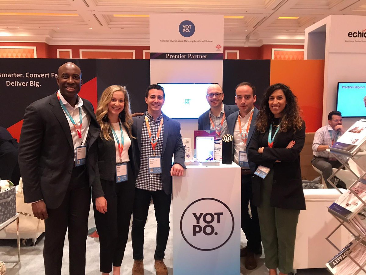 YotpoPartners: Team @Yotpo.nThank you @magento for an awesome conference, we can't feel our feet! 👏🏽🎉 #MagentoImagine https://t.co/H3HVvf1lg8