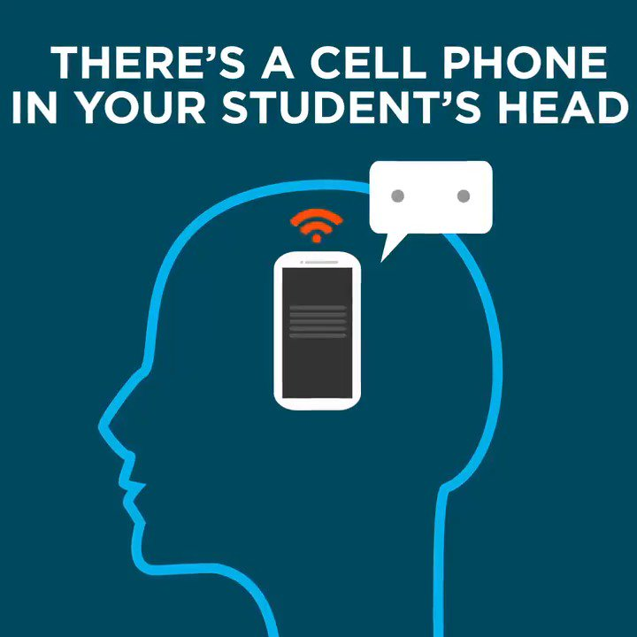 A 2017 study found that phones are distracting for working students—even when they're turned off, stashed away, or turned faced down. https://t.co/tziwPKLixu