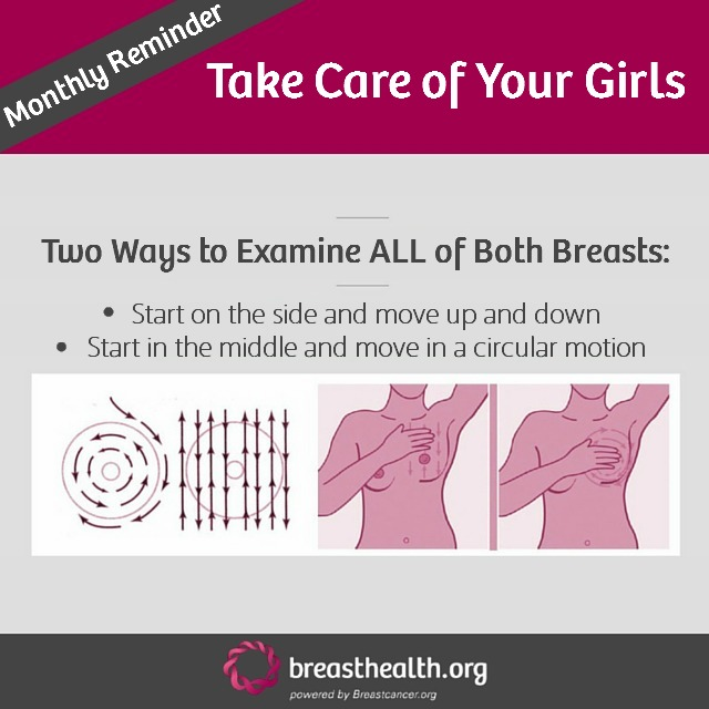 test Twitter Media - Let's be honest- how often are you checking your breasts? Try to get in the habit of doing it on the 15th of every month- we'll help remind you! https://t.co/HlQUq1SIJs
