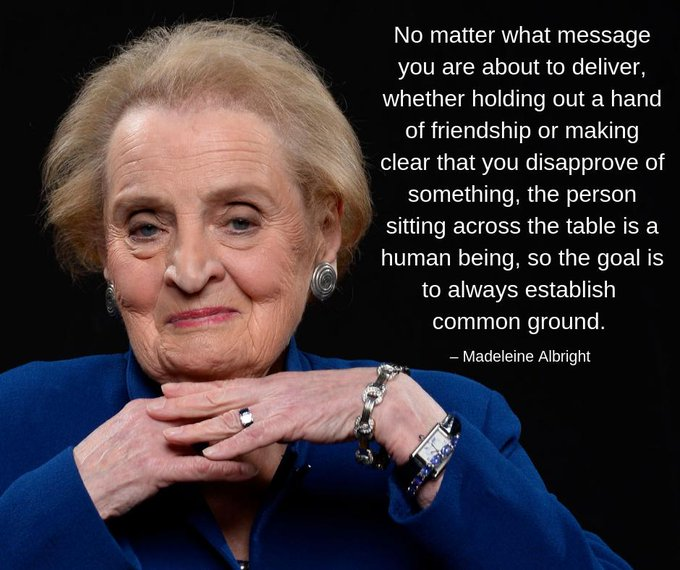 Happy birthday to Madeleine Albright, America\s first female secretary of state, born OTD in 1937.