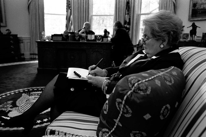 Happy birthday to Madeleine Albright, our first female Secretary of State!