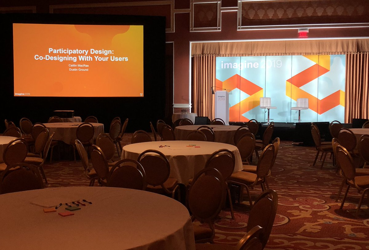 realcmacrae: The stage is set. Join us for a workshop session on participatory design. @magento_ux #MagentoImagine https://t.co/7zFfAlm1k8