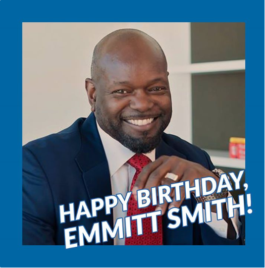HAPPY 50th BIRTHDAY, EMMITT SMITH! This Cowboys legend turns the big 5  0  today!!!