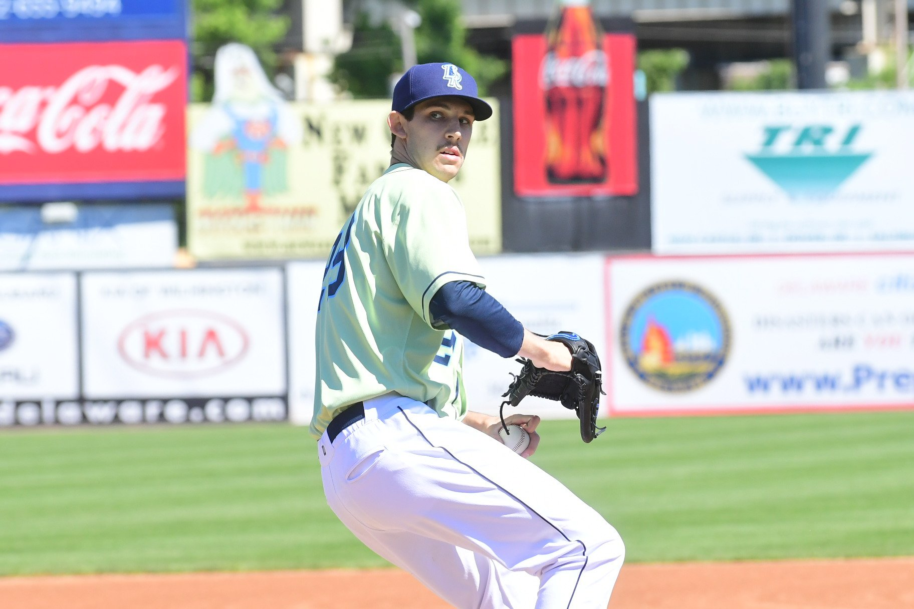 Starter Daniel Lynch was brilliant this afternoon on the mound for the Rocks. His final line...  7.0 IP, 2 H, 0 R, 0 ER, 9 K, 0 BB on 100 pitches (70 strikes) https://t.co/0LYet8qBY9
