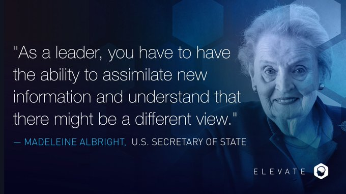 Happy birthday to the first female United States Secretary of State, Madeleine Albright.
