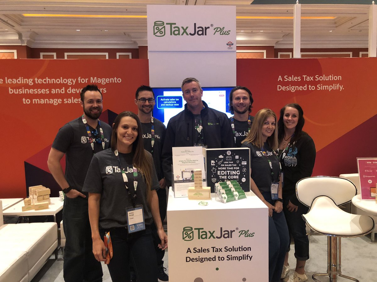 wsakaren: Come see the @TaxJar team - great company solid soul #MagentoImagine https://t.co/lG2qUSdz9t