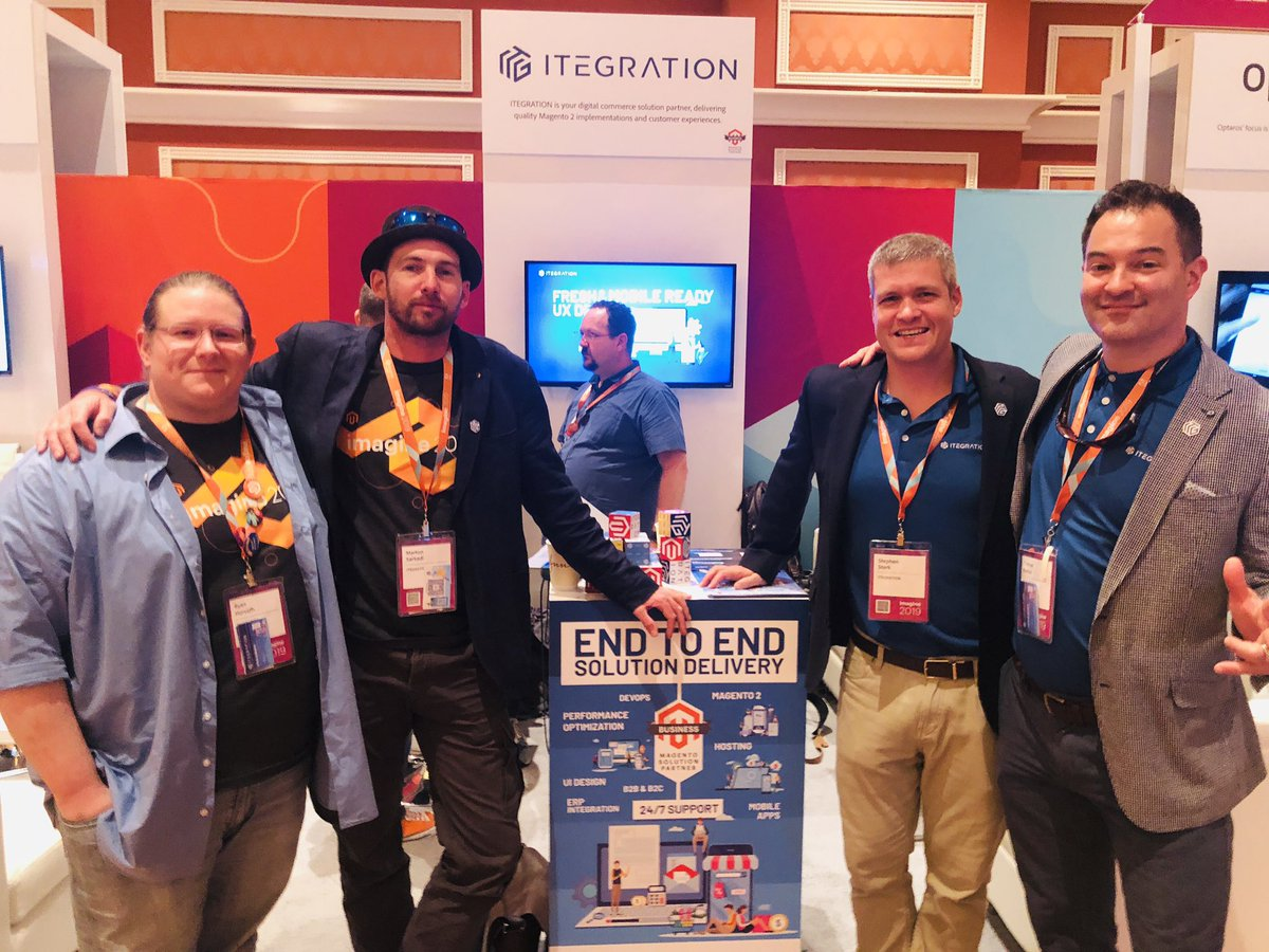 WebShopApps: Great team, funny guys in a great way, come see them #magentoImagine @itegrationusa https://t.co/hmpPzpffsw