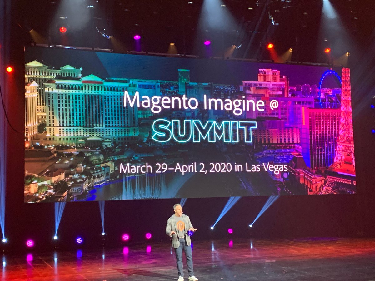 brentwpeterson: WOW, The @adobe @Magento Imagine summit is March 29 - April 2nd, 2020. #MagentoImagine https://t.co/DKcFPnFyW1