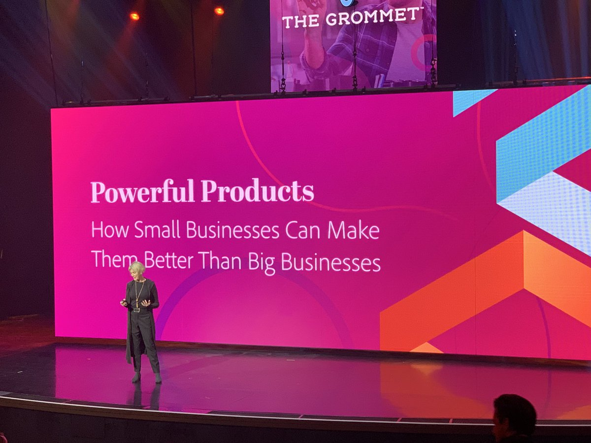 kenbausch: #MagentoImagine the fabulous @julespieri takes the stage to share the compelling story of @TheGrommet https://t.co/PQXyEusjH9