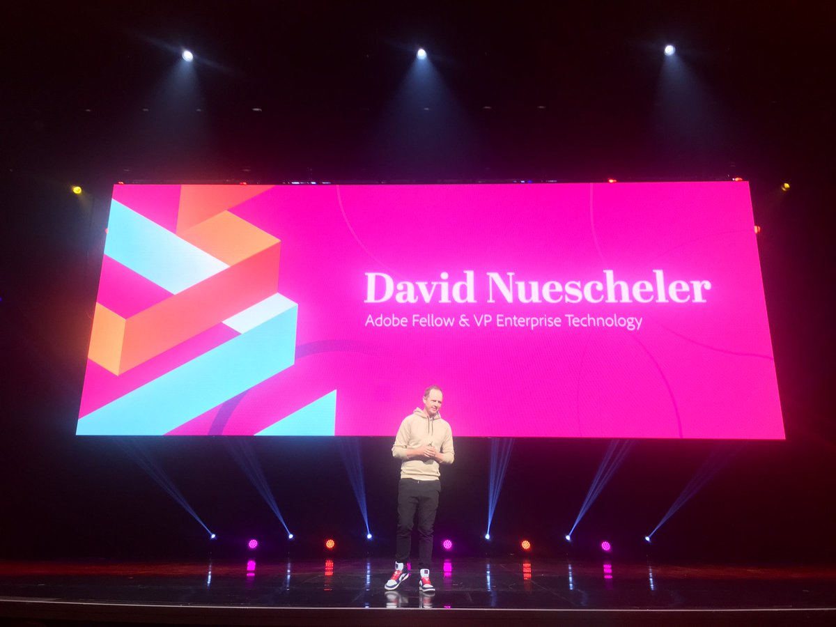 benmarks: If you're interested in technical vision for Adobe, watch the @davidnuescheler space. #MagentoImagine https://t.co/Euv9Bg2TJD