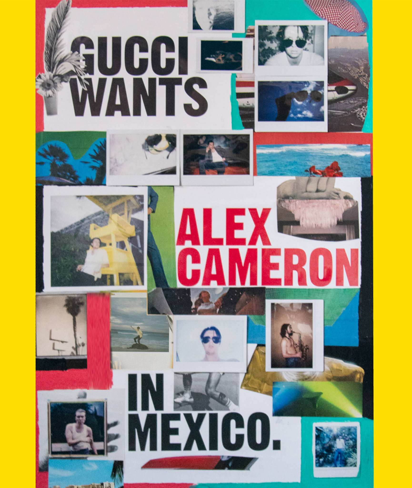 Australian singer-songwriter Alex Cameron @ALKCM worked with actress and artist @jemimakirke to create imaginary fan posters begging Alex to tour Mexico for #GucciGig, featuring #GucciEyewear's distinct 70s style aviator sunglasses. https://t.co/wQqJfdNVnO