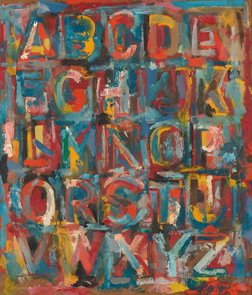 Happy Birthday      Artist Jasper Johns Alphabet painting