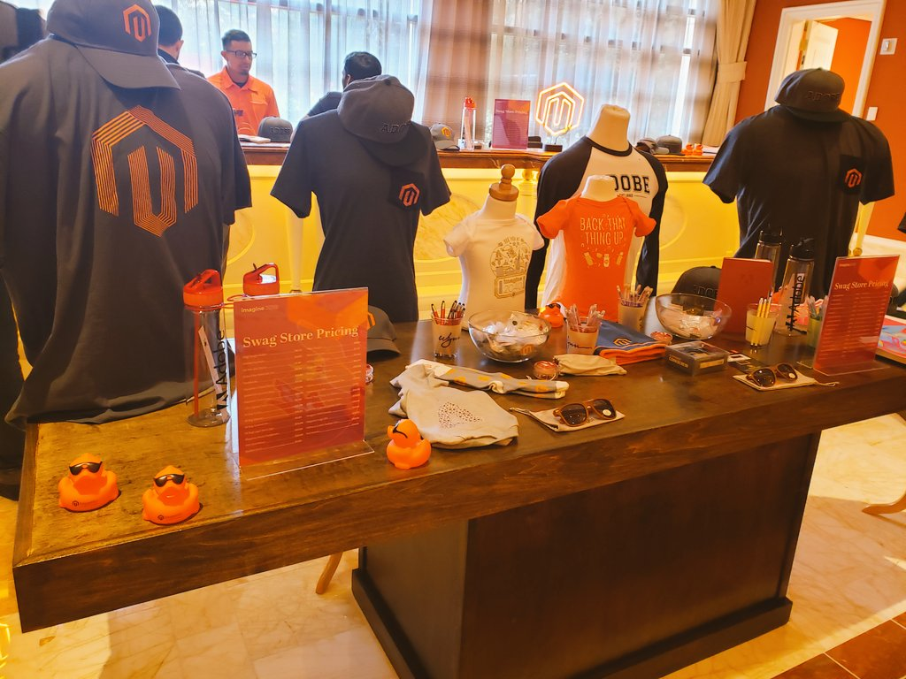 magento: Get your Swag! The store close today at 4:00 PM. 😎 #MagentoImagine https://t.co/NuM2XmMumK