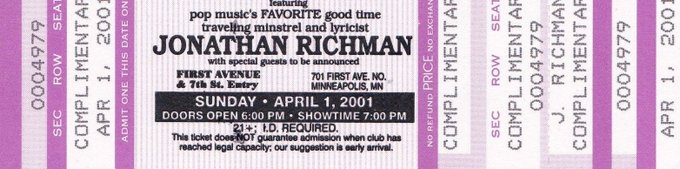 Happy Birthday, Jonathan Richman!