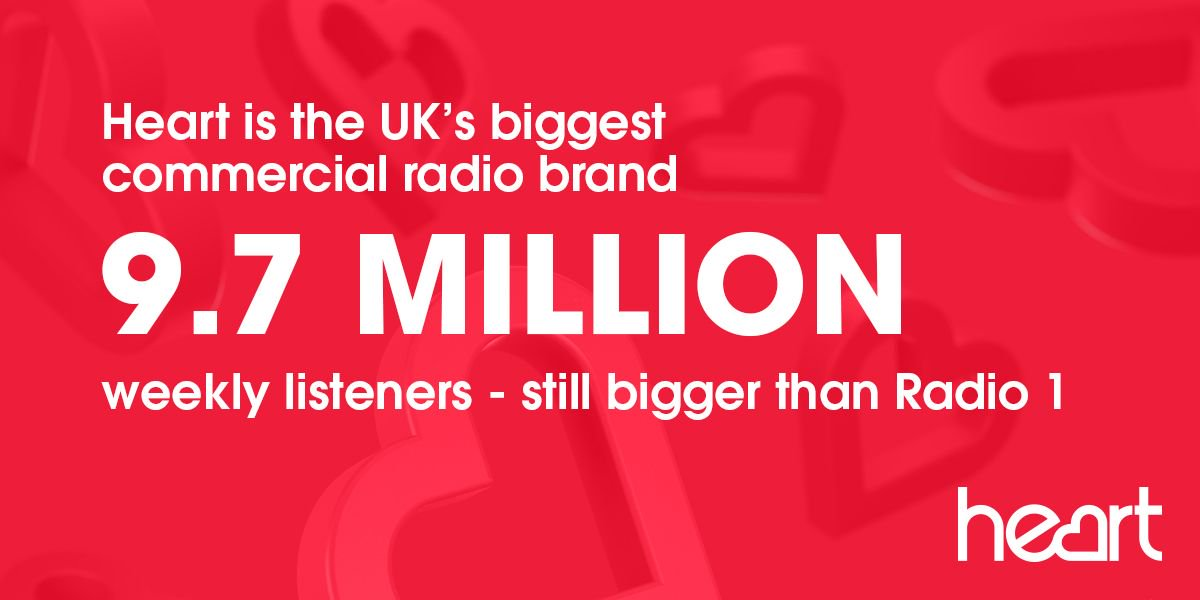 RT @global: It doesn't get more feel good than the news that 9.7 million listeners ❤️ @thisisheart! #RAJAR https://t.co/eSxb0DsfbY