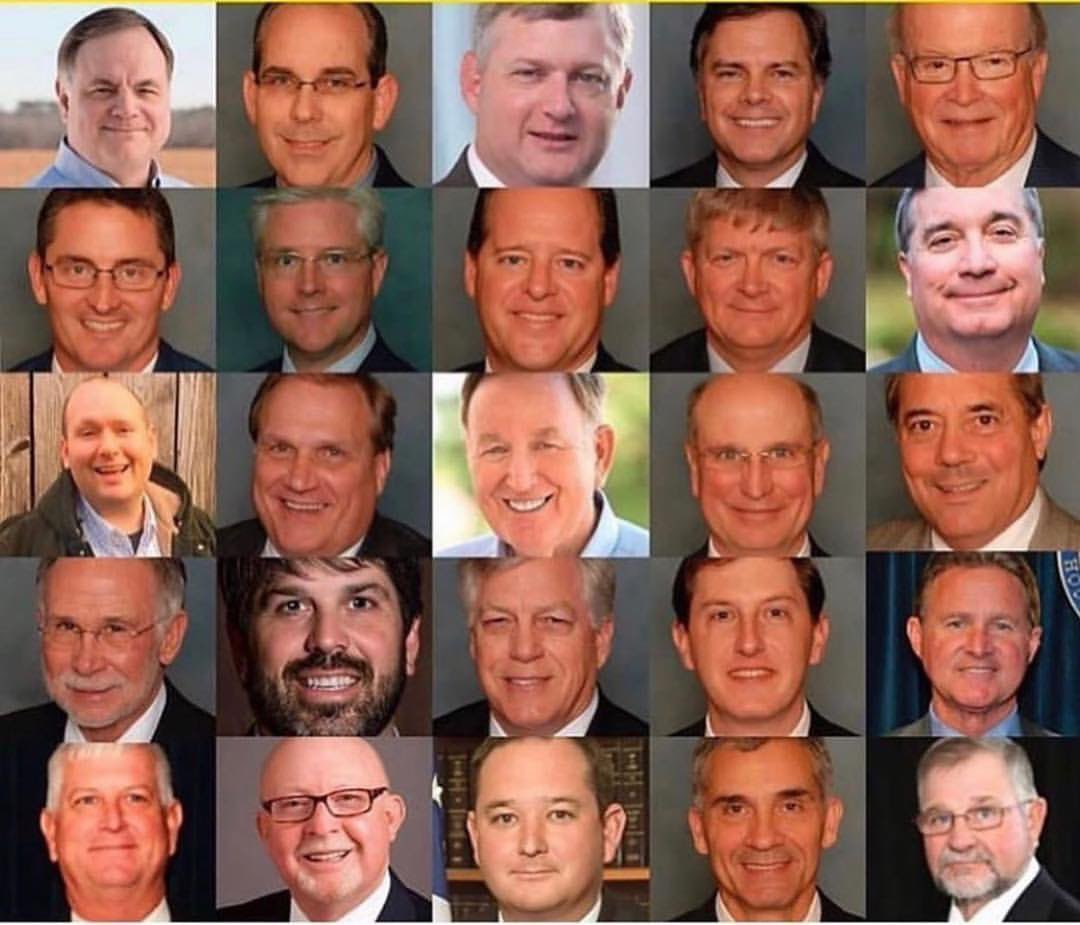 take a look. these are the idiots making decisions for WOMEN in America.  Governor Kay Ivey...SHAME ON YOU!!!! https://t.co/WuAjSVv6TH