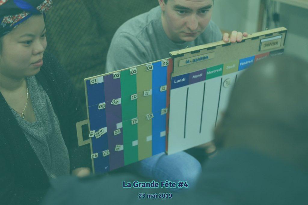 test Twitter Media - Le Planning à pictogrammes, l'Horloge manuelle, le Guidon visuel et la Pince automatisée et pleins d'autres prototypes à découvrir le 23 mai à La Grande Fête 🎉 ! Venez échanger avec l'ensemble des participant•e•s ! 😉Inscrivez-vous : https://t.co/8HgKdDuIej https://t.co/j7aInrh3po