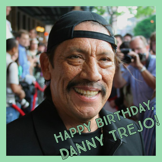 Legendary actor Danny Trejo is turning 75 today! Happy Birthday!!!