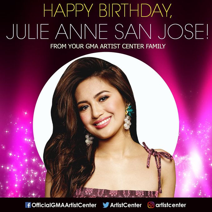 Happy Birthday to Asia\s Pop Sweetheart, Julie Anne San Jose (