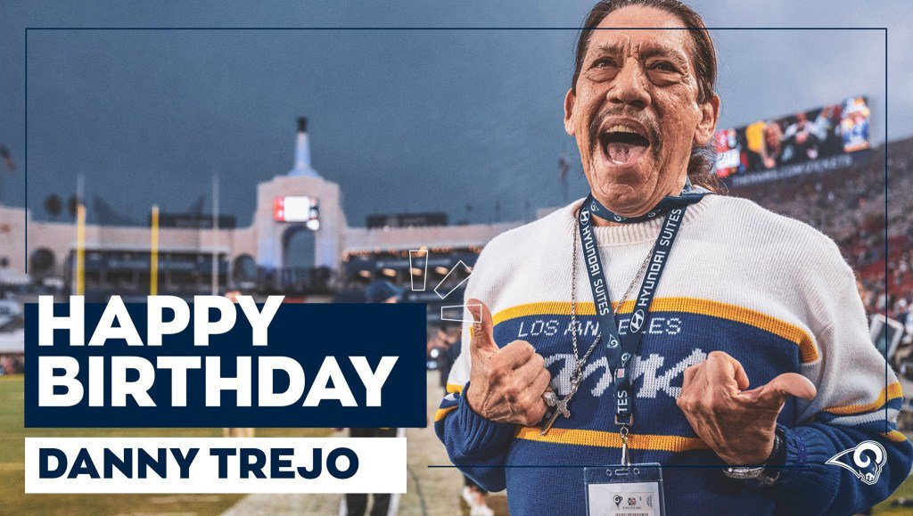 The big 7 5 . Happy birthday to the one + only, Danny Trejo!