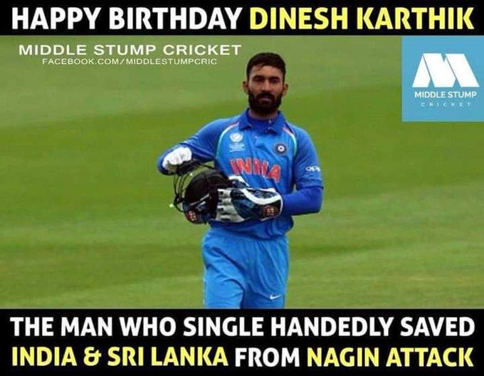 Happy birthday dinesh karthik enjoy life