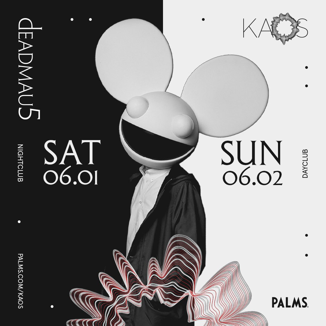 the mau5 + the other cube are back in Vegas @KaosVegas this weekend!! tickets available at https://t.co/p7QGKWrwFV https://t.co/dlp2C4hlWx