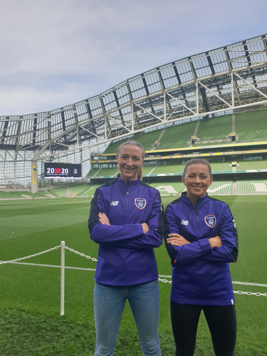 In the Aviva with @Katie_McCabe11 and @louise_quinn4 for our @20x20_ie Fan's Match! 💪⚽ #CantSeeCantBe https://t.co/46dJVSft9o