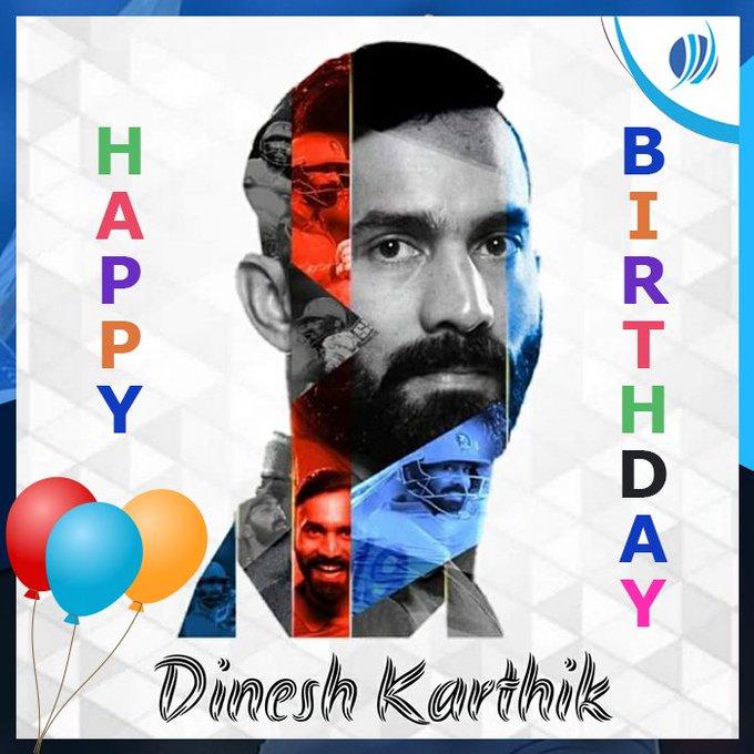 Happy Birthday Dinesh Karthik.