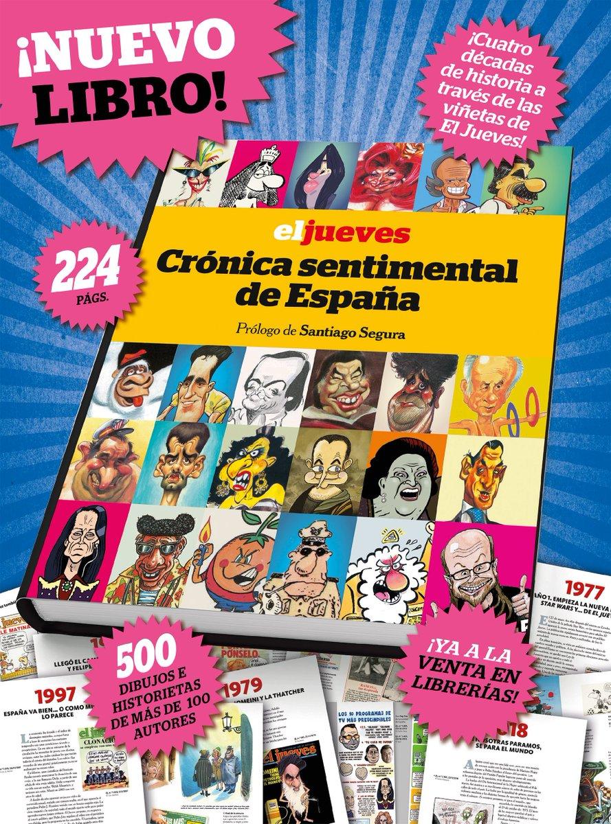 RT @eljueves: ¡YA EN LIBRERÍAS! (Sí, también en librerías de internet) https://t.co/gvLYr84NcI
