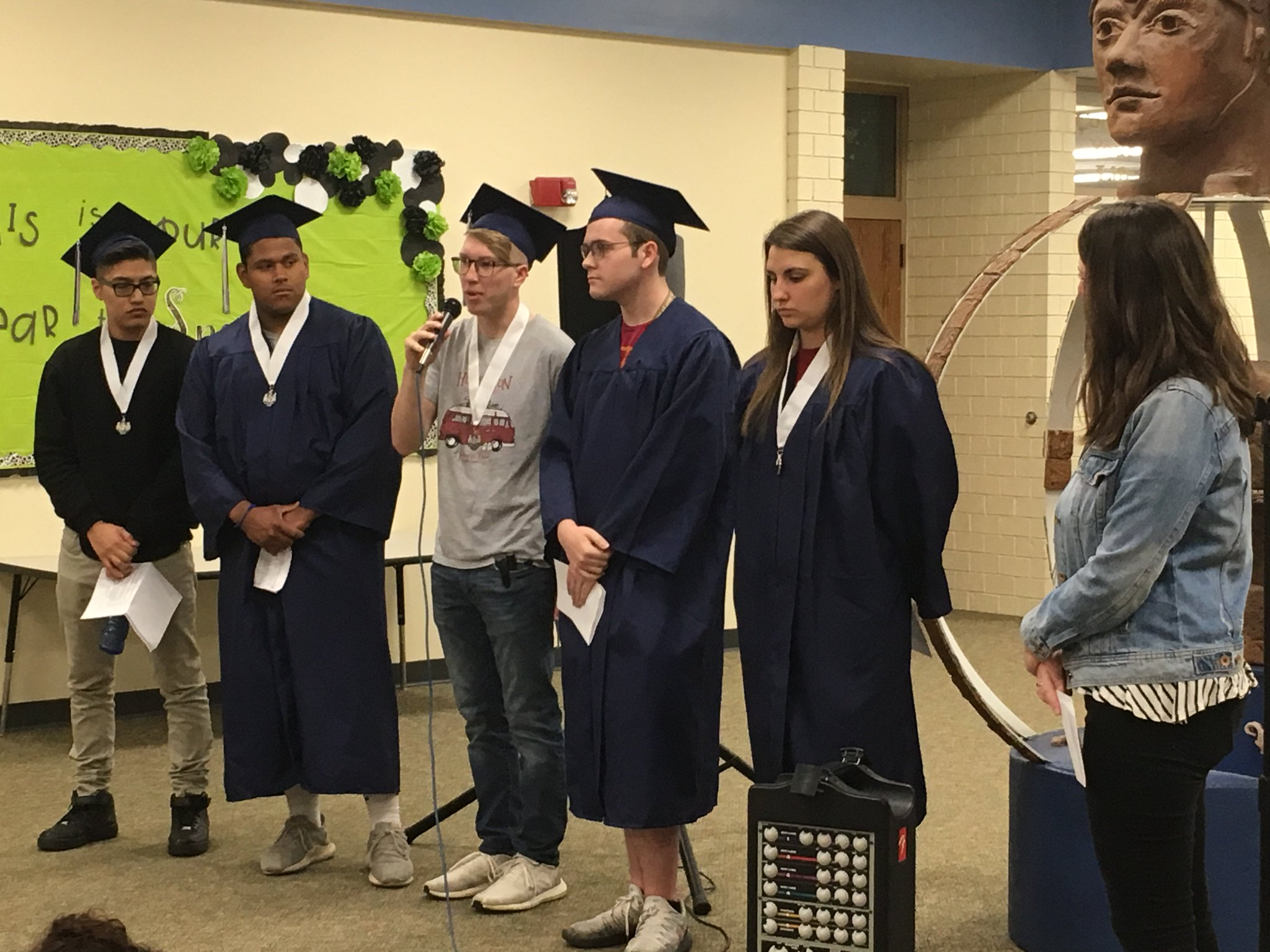 Seniors have been visiting Titan Hill to share their stories about high school & graduation success! On Friday they will be walking through the hallways for the Parade of Excellence - what great role models! https://t.co/DpzcQAloot