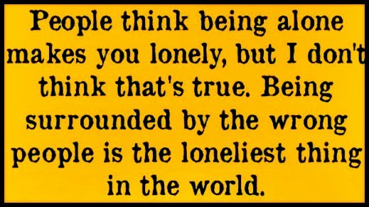 RT @feelTHEnature_: People think being alone makes you lonely, but...  #MondayMorning #quote https://t.co/Crqeli3r0B