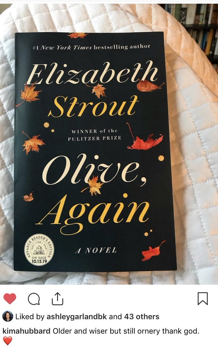 Spotted: @people's Book Editor @kimahubbard loving @LizStrout's OLIVE, AGAIN. Out October 15th! https://t.co/fXYu1Uve9Q