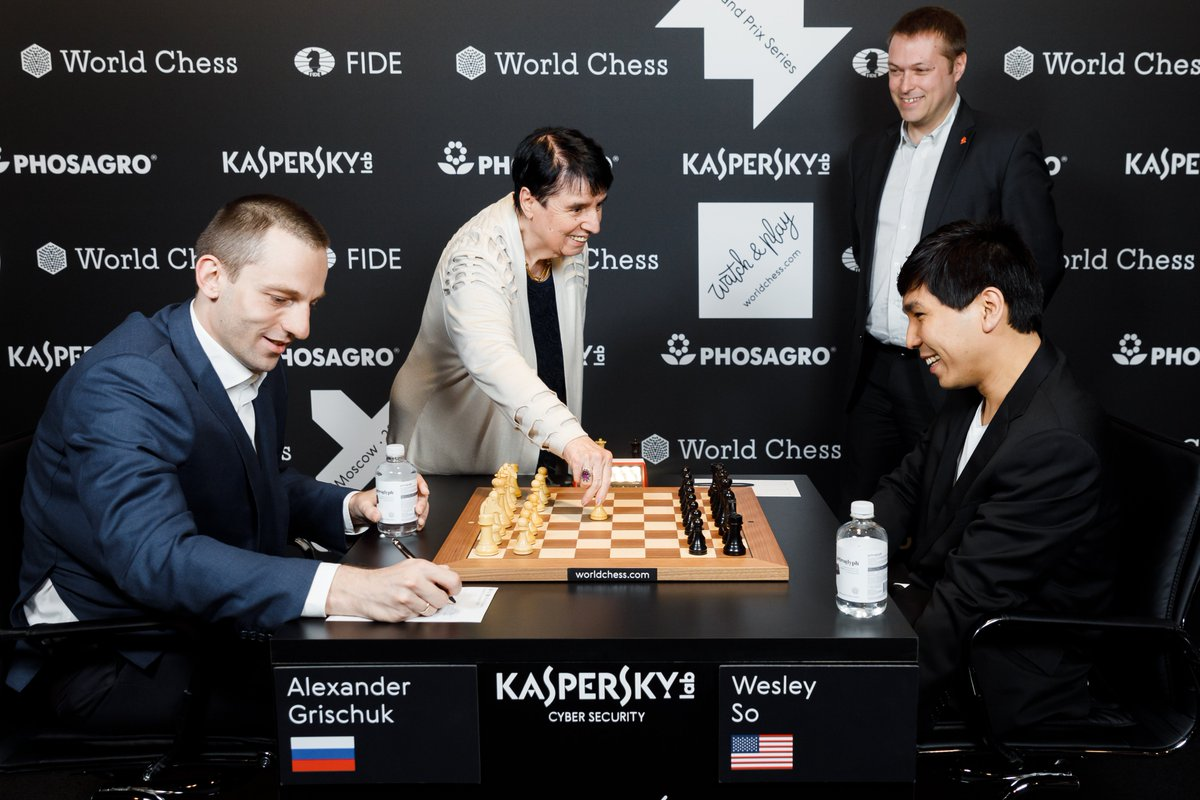 test Twitter Media - The first move of FIDE Grand Prix Quarterfinals in Moscow was made by legendary GM Nona Gaprindashvili, the 5th women world chess champion.   Later she joined the Russian commentary studio with GM Sergey Shipov.   #Legendary #chess #GrandPrixFIDE https://t.co/5dn32r2hXB