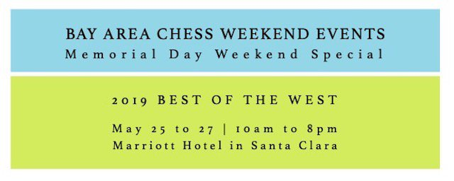 test Twitter Media - #GetReady with a #ChampionshipMindset for the #MemorialDayWeekend. #SignUp here for the 2019 #best the West #chess #Championship: https://t.co/f6sg5Ip7e1.  #chess24 #weekendvibes #EverybodyIn #LetsPlay @SanJoseHackers @BayAreaSportsHQ @BayAreaCouncil @DoTheBay @BayAreaParentSV https://t.co/zfOyQreeBN