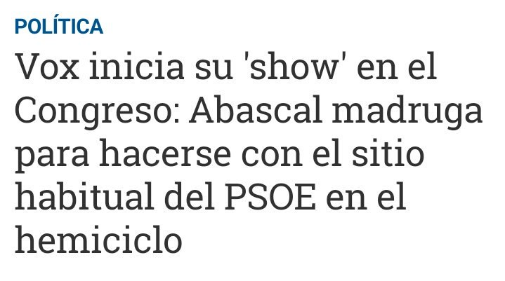 INAUDITO: Abascal madrugando https://t.co/GDqz0db1A2