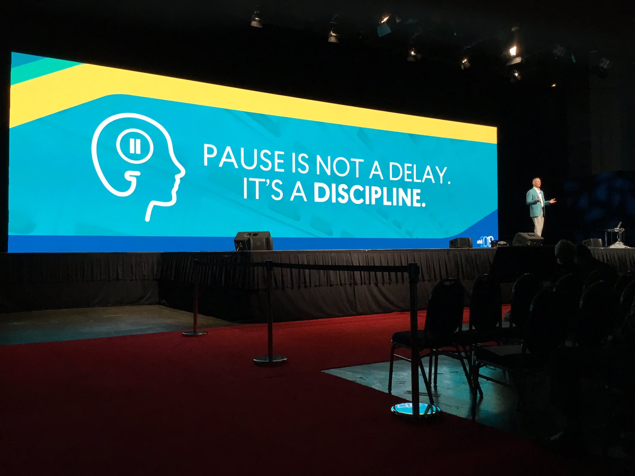 Pause is not s delay it's a discipline - @charlesfred #ATD2019 https://t.co/Oy8vxD4vIx
