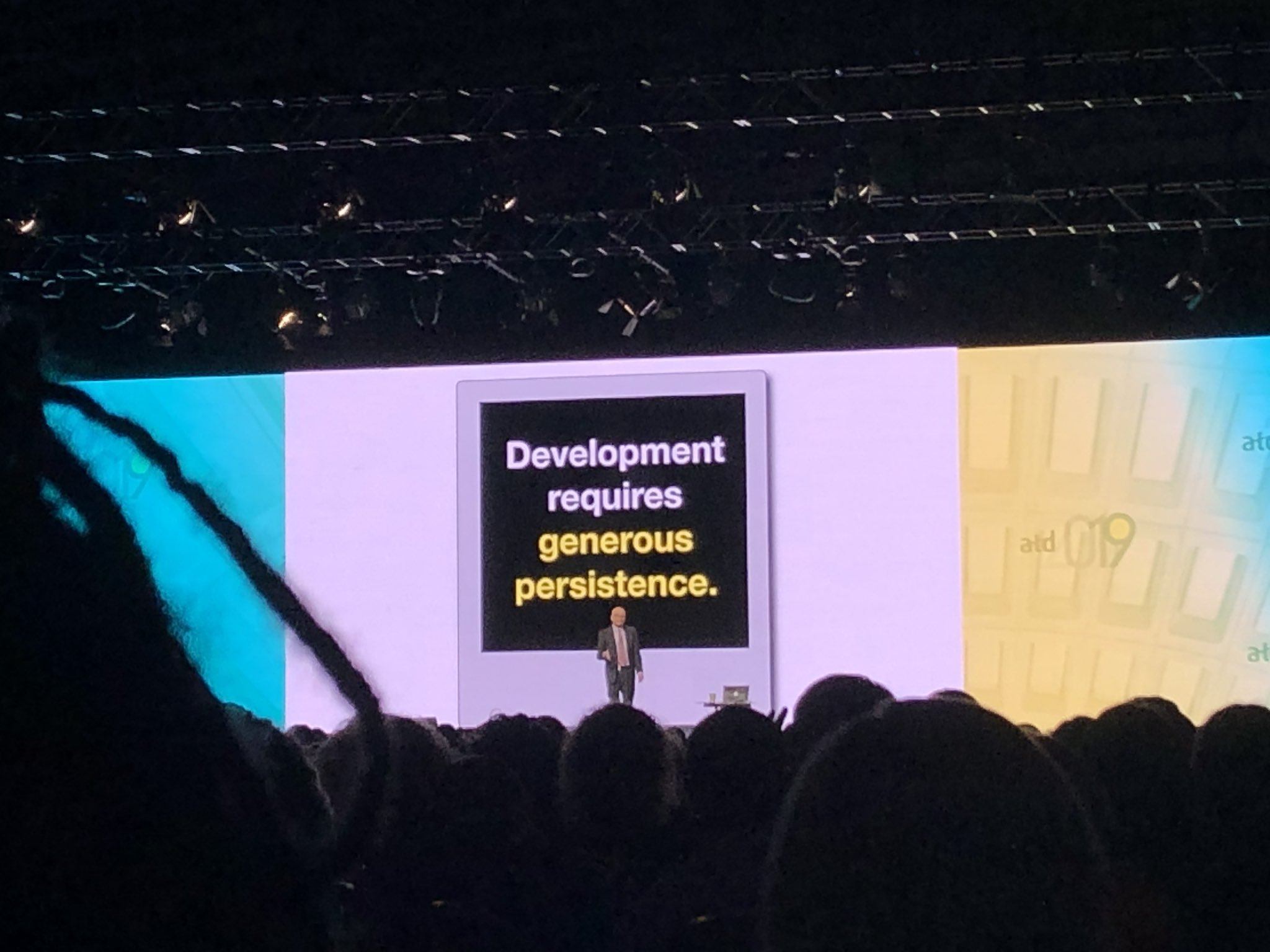 Already... @ThisIsSethsBlog challenging us to consider the unconventional. You're missing out if you're not here. @atd #atd2019 https://t.co/9UMbb96TWq