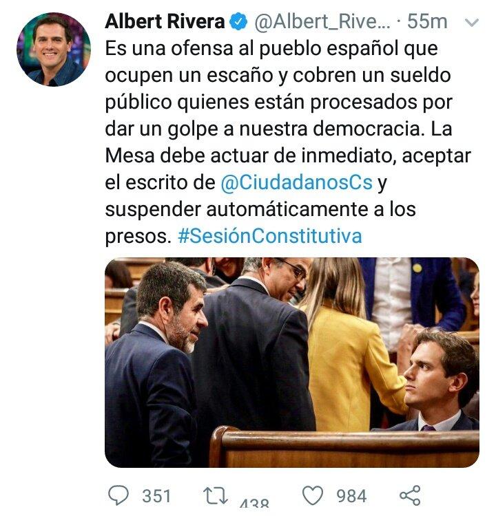 Rivera propone saltarse la ley. https://t.co/IJhtoGfwhX
