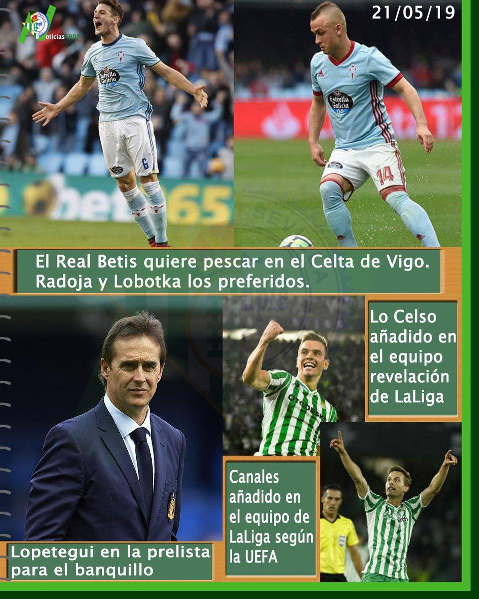 |PORTADA 21/05/19|  #betis #lobotka #radoja #celta #lopetegui #entrenador #rumores #canales #locelso #XI #laliga https://t.co/ltXo6rOY6Q