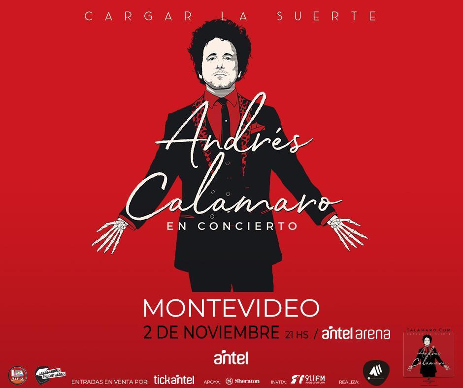 "RT @radiofutura911: ANDRES CALAMARO  LLEGA A MONTEVIDEO CON SU GIRA  ""CARGAR LA SUERTE"" ☆Invita Radio Futura 91.1☆ https://t.co/MCUlySvNGU"