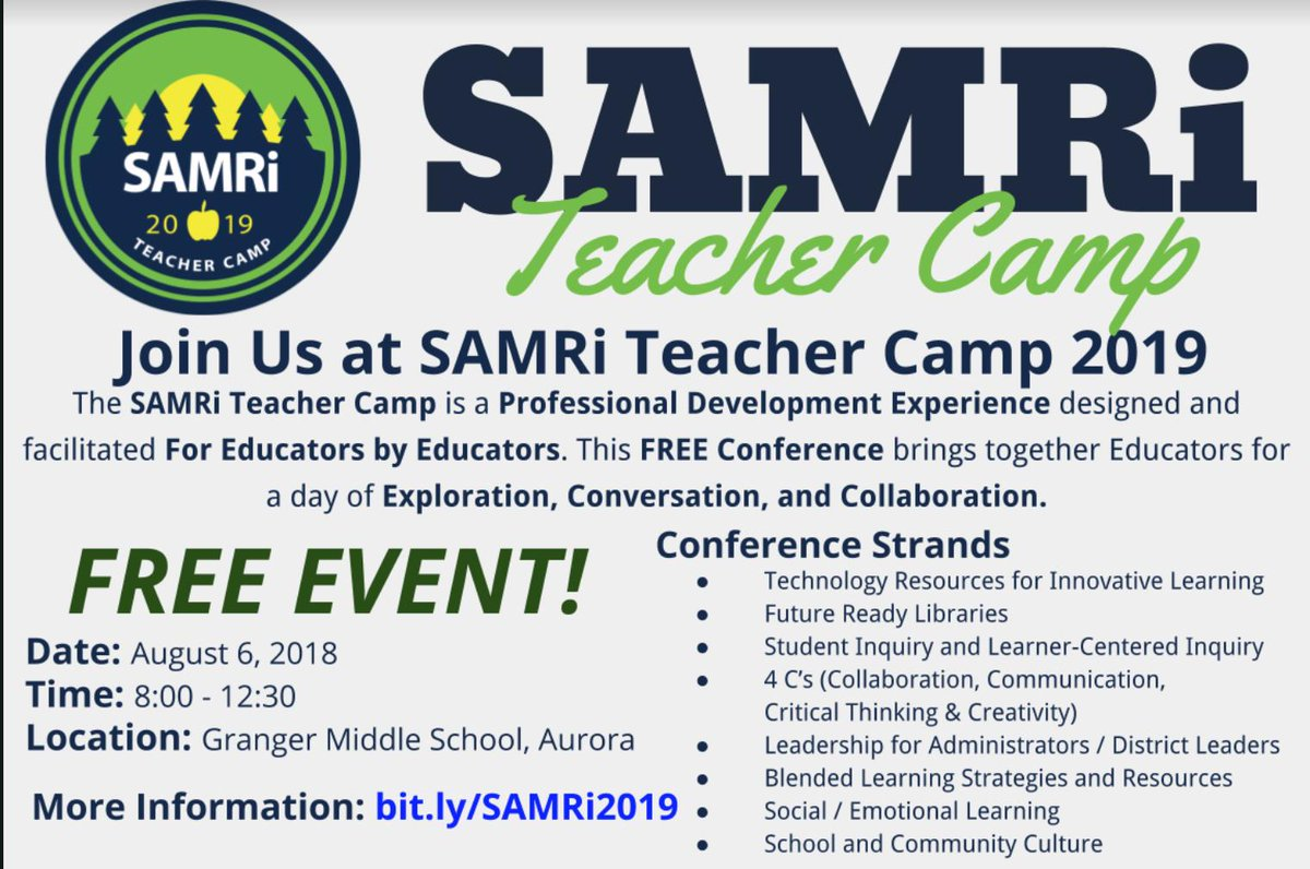 test Twitter Media - Join us this summer on Aug 6th! Present or learn! An excellent opportunity to gain ideas, share & network before the start of the new school year! Save the date! #d30learns #SAMRicamp https://t.co/qKTsWLGLuE #ILedCoach https://t.co/Soi2ZHuu1J