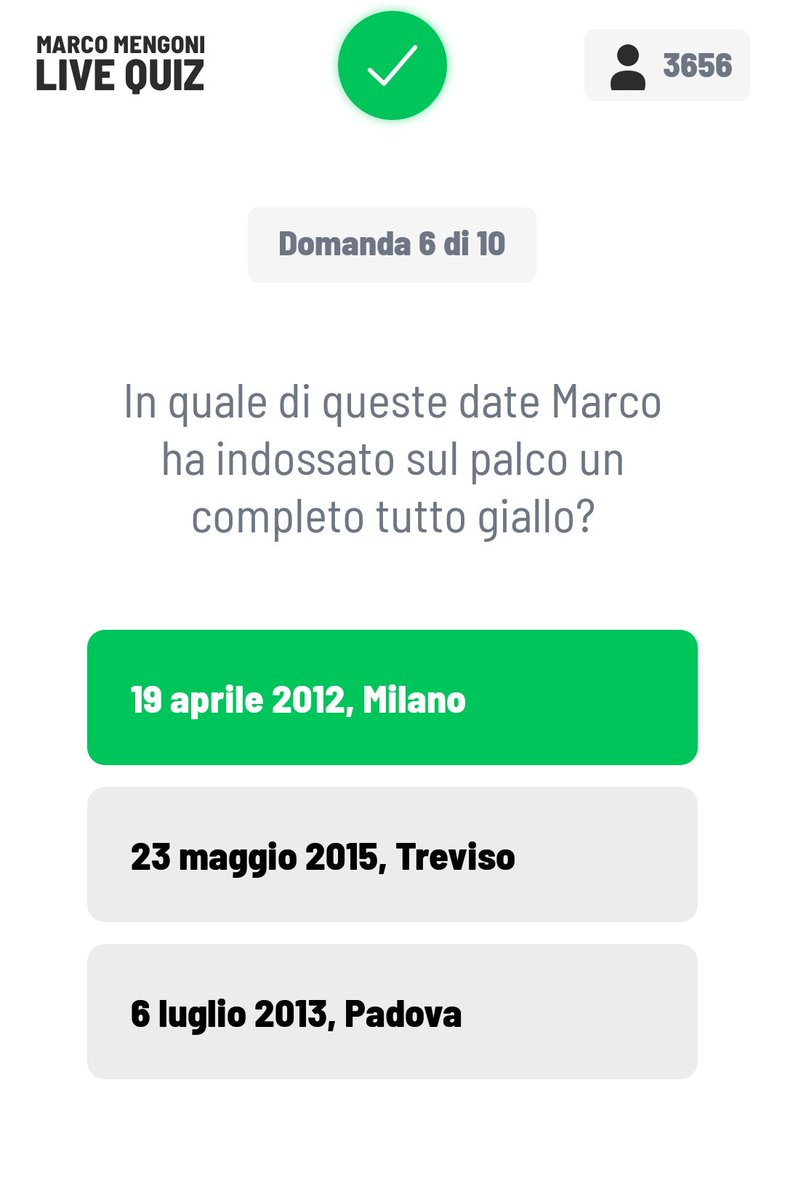 #marcomengonilivequiz