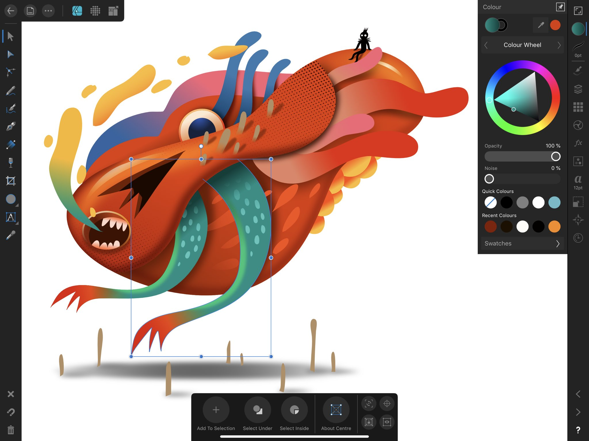 Today I had full of meeting, as an introvert person it makes me tired. Creating something on my iPad the best way to bring back my energy.  @affinitybyserif  #affinitydesigner #ipadpro #ipadart https://t.co/BZ296wavPc