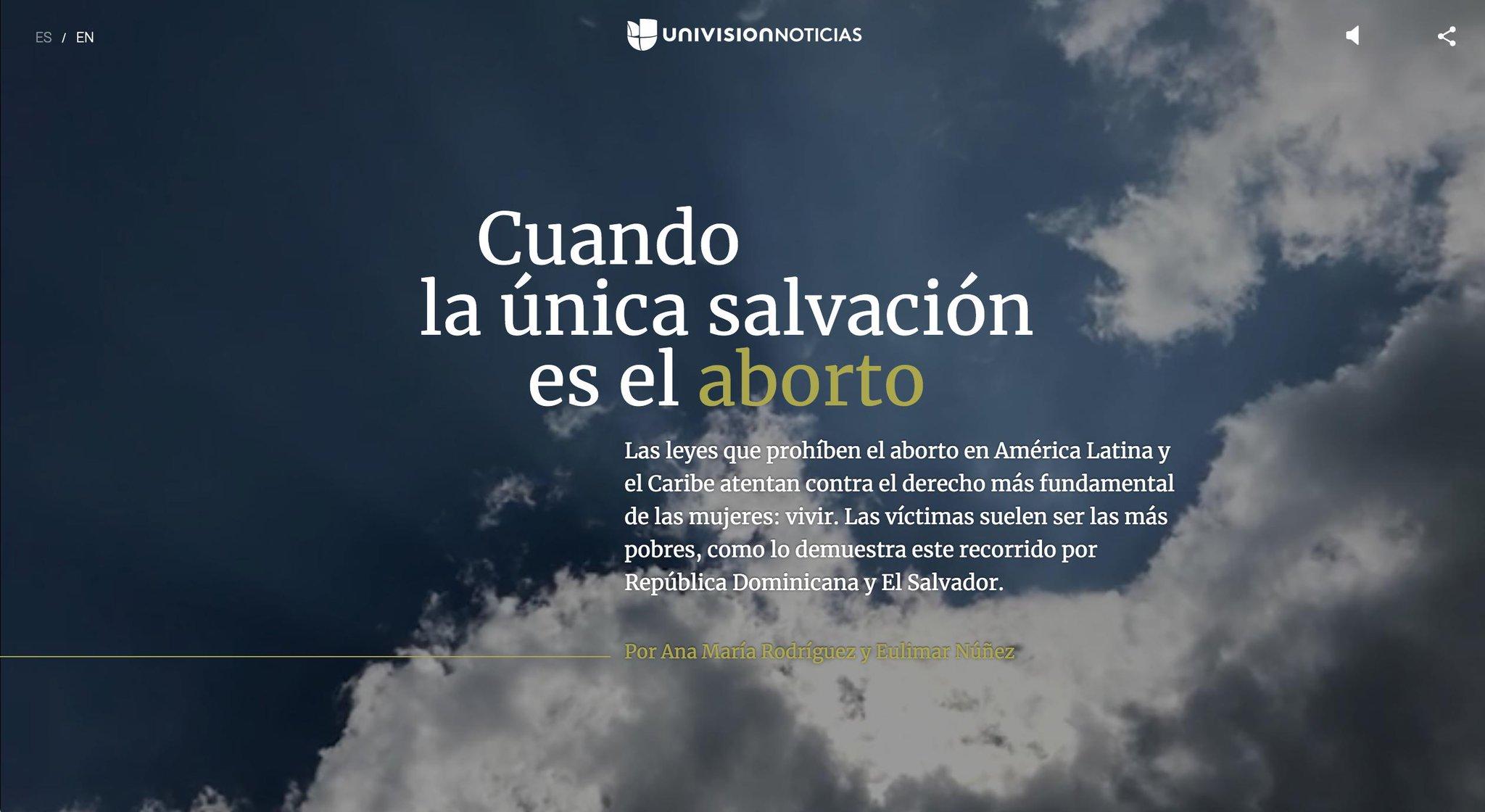 ¿Cómo es la vida en los países que prohíben el aborto sin excepciones, incluso cuando la vida de la mujer está en peligro? @anamaroqui y @eulimar visitaron El Salvador y República Dominicana para explicarlo en este especial de @uninoticias. https://t.co/G4vzlyYUvW