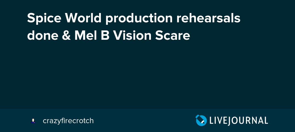 test Twitter Media - Spice World production rehearsals done & Mel B Vision Scare https://t.co/XIvxhswvyI https://t.co/0rF52c4THa