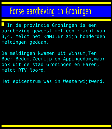 test Twitter Media - Forse aardbeving in Groningen https://t.co/Mywz7qDaLq