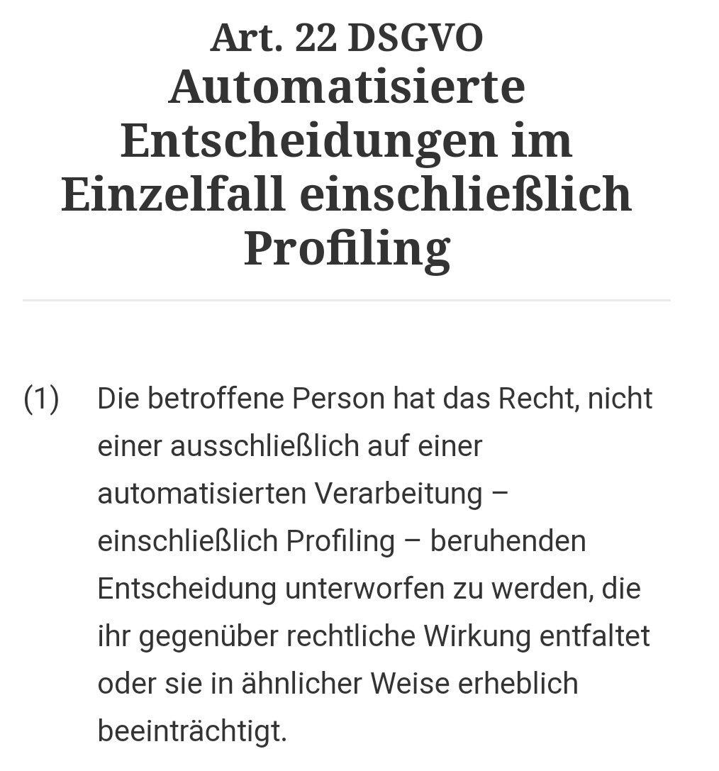 RT @WKerner: #RC19 Mensch vs. Maschine #DSGVO Artikel 22 https://t.co/PNUbq76X2h