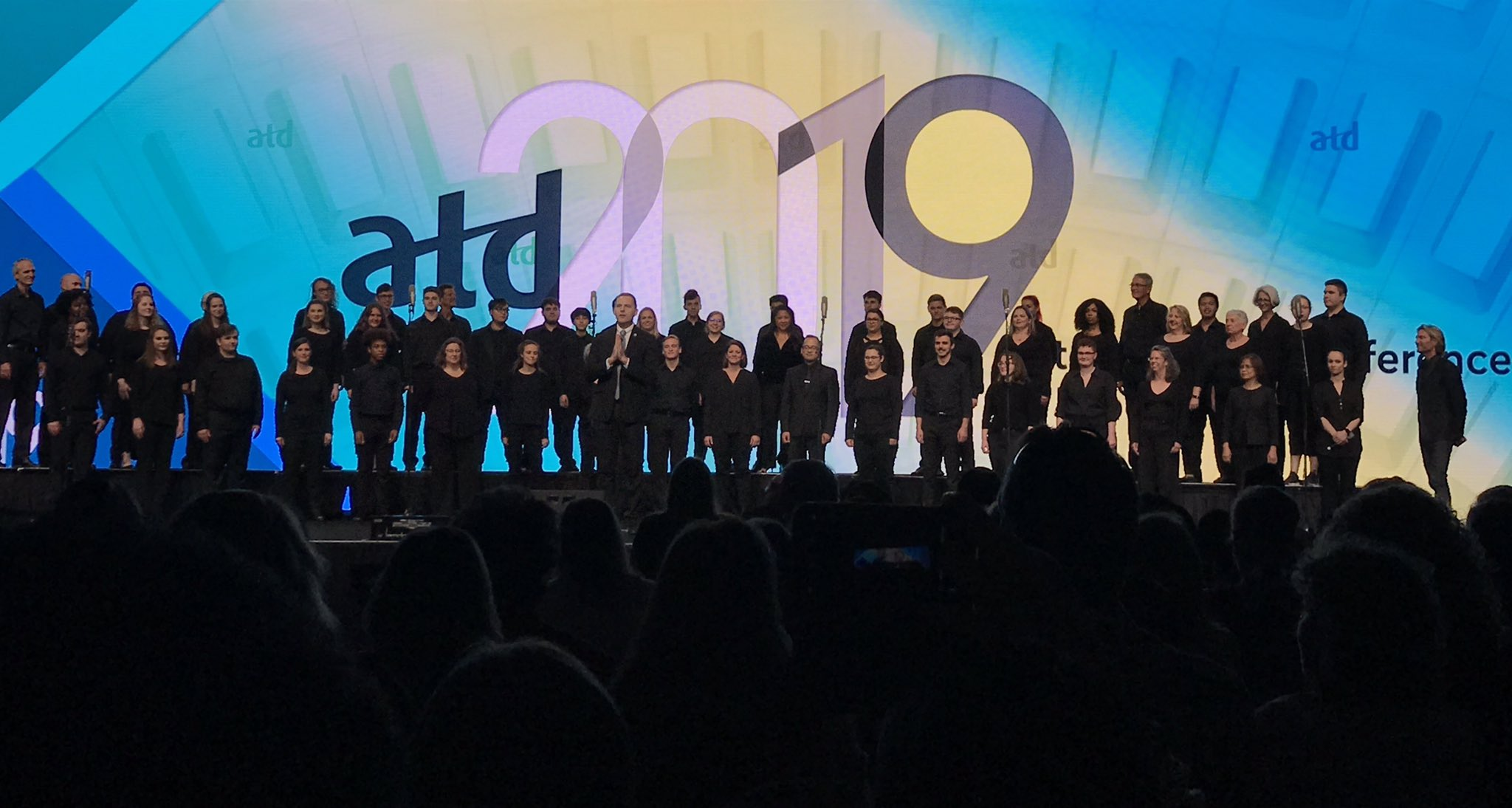 """""""I find that technology tells us who we want to be and art tells us who we are."""" -@EricWhitacre  #ATD2019 #ATDchapters https://t.co/D6BigdicHM"""